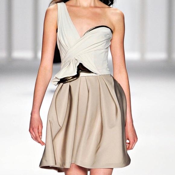 J. Mendel Dresses & Skirts - J Mendel Corseted One Shoulder Dress
